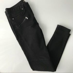 ZARA Black skinny jeans + knee detail